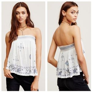 NWOT Free people Boho Tube Top
